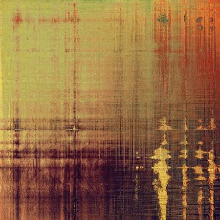 eroded: Old vintage background with retro-style elements and different color patterns: yellow (beige); brown; gray; red (orange); purple (violet); pink