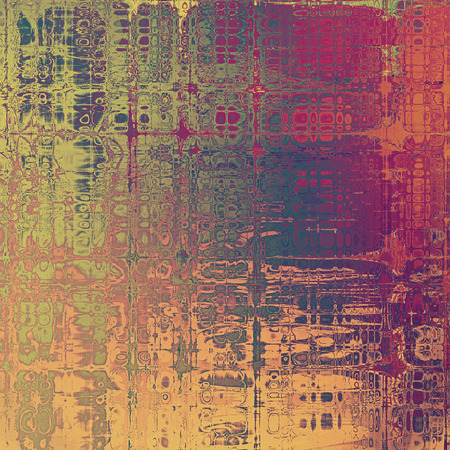 grained: Aged grunge texture. With different color patterns: yellow (beige); green; gray; red (orange); purple (violet); pink Stock Photo