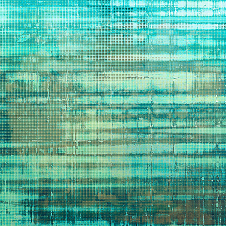 in vain: Rough textured backdrop, abstract vintage background with different color patterns: yellow (beige); brown; green; gray; cyan; blue