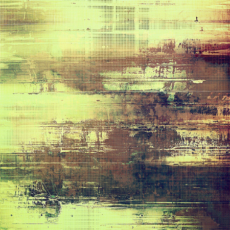 fibrous: Decorative vintage texture or creative grunge background with different color patterns: yellow (beige); brown; green; gray