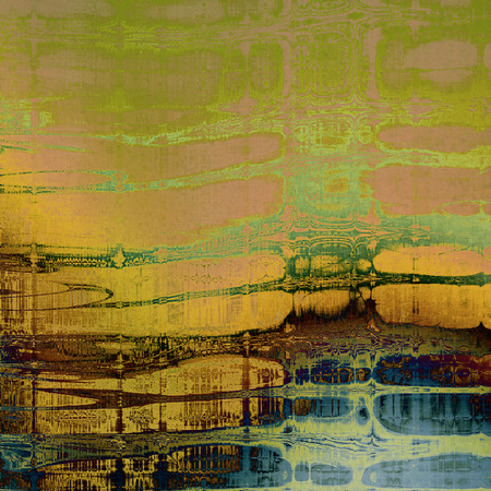 Old, grunge background or damaged texture in retro style. With different color patterns: yellow (beige); brown; pink; green; blue; cyan