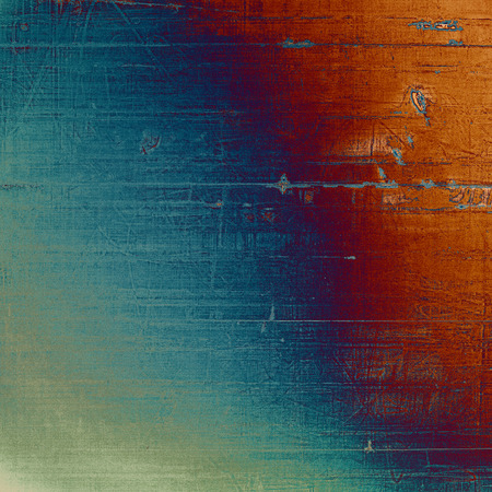 Highly detailed grunge background or scratched vintage texture. With different color patterns: brown; gray; blue; red (orange); purple (violet); cyan Stock Photo