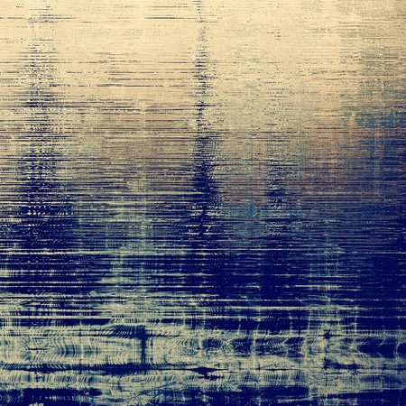 eroded: Vintage background with dirty grungy texture or overlay and different color patterns: yellow (beige); brown; gray; blue