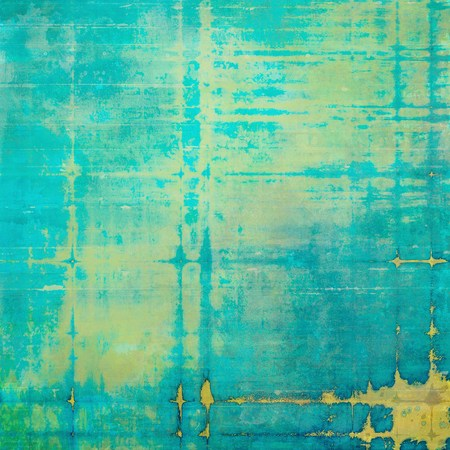 Retro style background with grungy vintage texture and different color patterns: yellow (beige); brown; green; blue; cyan Reklamní fotografie