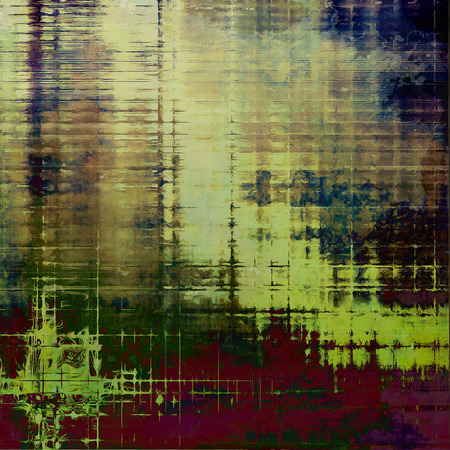 eroded: Old grungy stylish composition, vintage texture with different color patterns: yellow (beige); brown; gray; purple (violet); green; blue