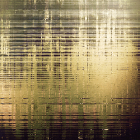eroded: Retro style graphic composition on textured grunge background. With different color patterns: yellow (beige); brown; gray; green; black Stock Photo
