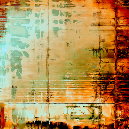 Hi res grunge texture or retro background. With different color patterns: yellow (beige); brown; red (orange); green; blue; cyan Stock Photo