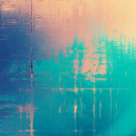 Retro style grunge background, mottled vintage texture. With different color patterns: yellow (beige); brown; blue; red (orange); cyan; pink