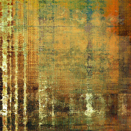 Abstract vintage background with faded grungy texture. Aged backdrop with different color patterns: yellow (beige); brown; green; gray; red (orange)