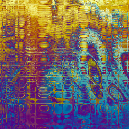 eroded: Vintage torn texture or stylish grunge background with ancient design elements and different color patterns: yellow (beige); blue; red (orange); purple (violet); cyan; pink