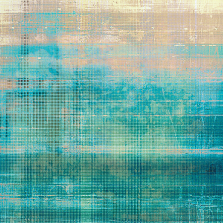Old, grunge background or ancient texture. With different color patterns: yellow (beige); brown; blue; gray; cyan; white Stock Photo