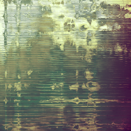 eroded: Old, grunge background texture. With different color patterns: yellow (beige); brown; green; gray; purple (violet); pink Stock Photo
