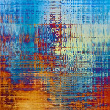 Traditionele grungeachtergrond, gekraste textuur met uitstekend stijlontwerp en verschillende kleurenpatronen: geel (beige); blauw; grijs; rood oranje); paars Violet); cyaan