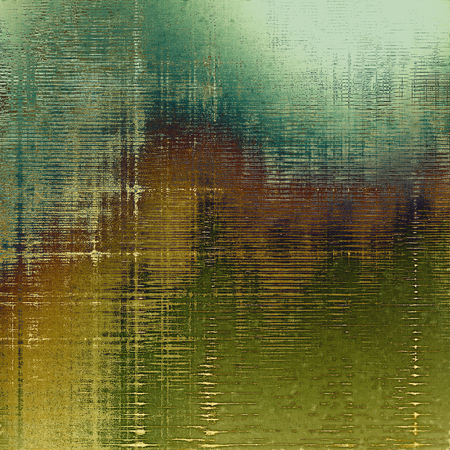 Art grunge texture for creative design or scrap-book. With vintage style decor and different color patterns: yellow (beige); brown; green; gray; cyan