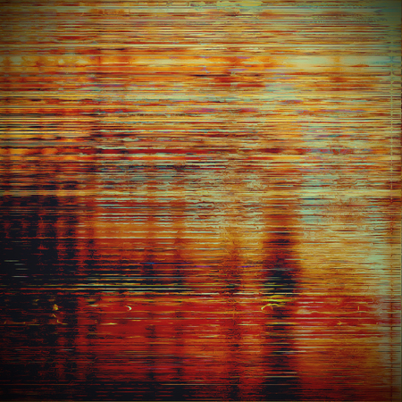 Abstract grunge weathered background of vintage texture. With different color patterns: yellow (beige); brown; blue; red (orange); black