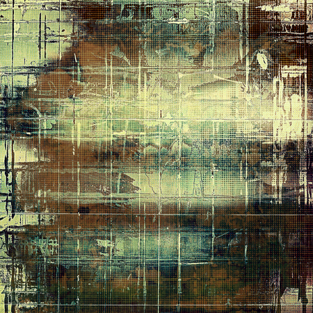Glamour vintage frame, decorative grunge background. Aged texture with different color patterns: yellow (beige); brown; green; blue; gray