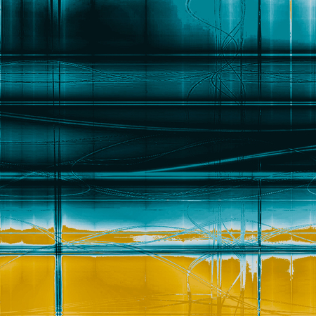 Retro style abstract background, aged graphic texture with different color patterns: yellow (beige); blue; cyan; white