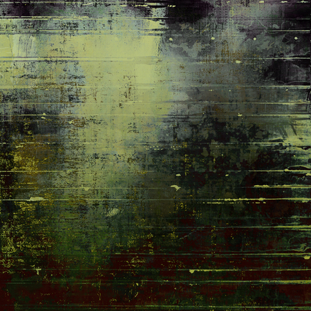 Oldest vintage background in grunge style. Ancient texture with different color patterns: yellow (beige); brown; green; gray; purple (violet); black Фото со стока