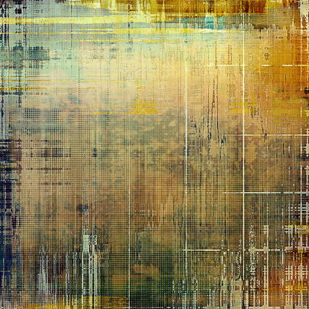corrosion: Grunge texture, decorative vintage background. With different color patterns: yellow (beige); brown; green; gray; cyan Stock Photo