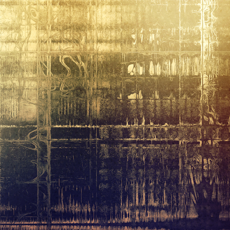 Retro background with vintage style design elements, scratched grunge texture, and different color patterns: yellow (beige); brown; gray; blue; purple (violet)