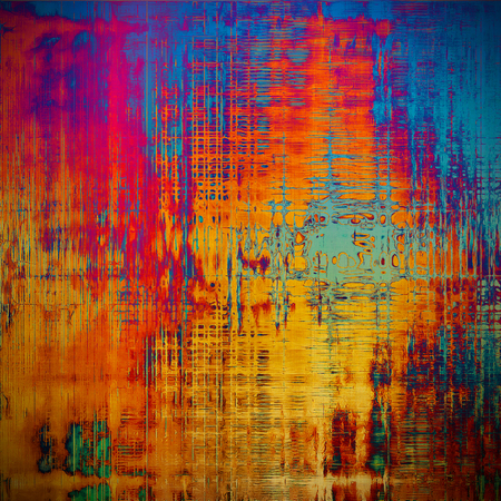Art graphic texture for grunge abstract background. Aged colorful backdrop with different color patterns: yellow (beige); pink; blue; red (orange); purple (violet); cyan