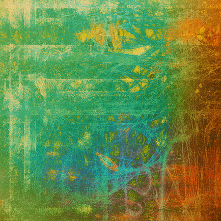 Vintage mottled frame, textured grunge background with different color patterns: yellow (beige); brown; green; blue; red (orange)