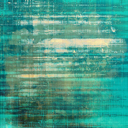 Scratched grunge background or spotted vintage texture. With different color patterns: yellow (beige); brown; green; gray; blue; cyan Stock Photo