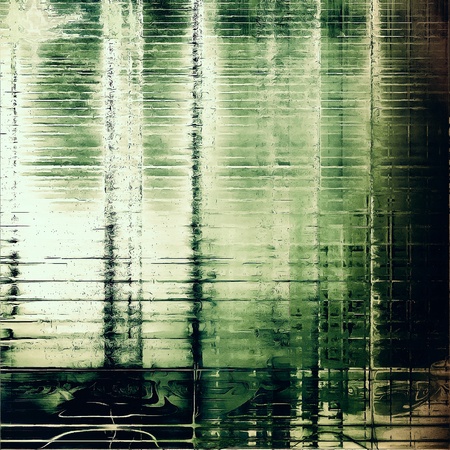 eroded: Vintage old-style texture, worn and rough grunge background with different color patterns: yellow (beige); brown; green; gray; black; white Stock Photo