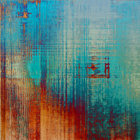 Designed background in grunge style. With different color patterns: yellow (beige); brown; gray; blue; red (orange); cyan