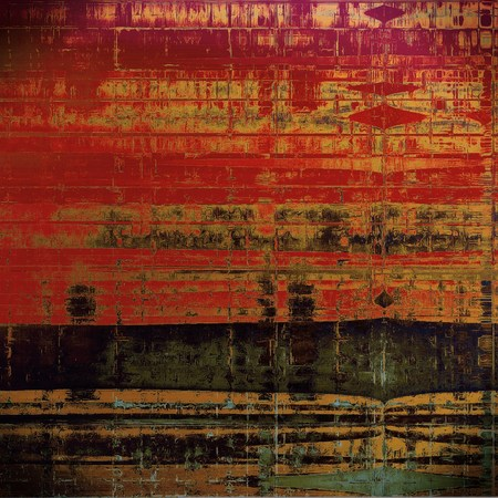Grunge background for your design, aged shabby texture with different color patterns: yellow (beige); brown; green; red (orange); black; pink