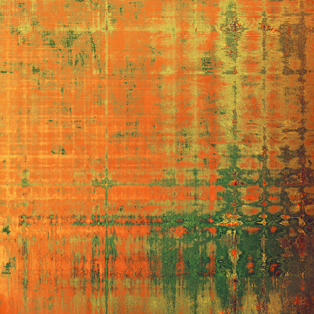 Designed background in grunge style. With different color patterns: yellow (beige); brown; green; gray; red (orange)