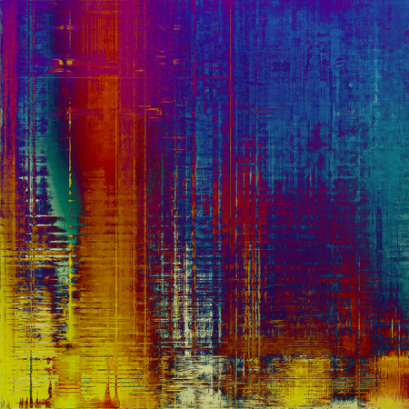 Rough vintage texture. With different color patterns: yellow (beige); pink; blue; red (orange); purple (violet); cyan