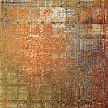 Colorful designed grunge background. With different color patterns: yellow (beige); brown; gray; red (orange); black