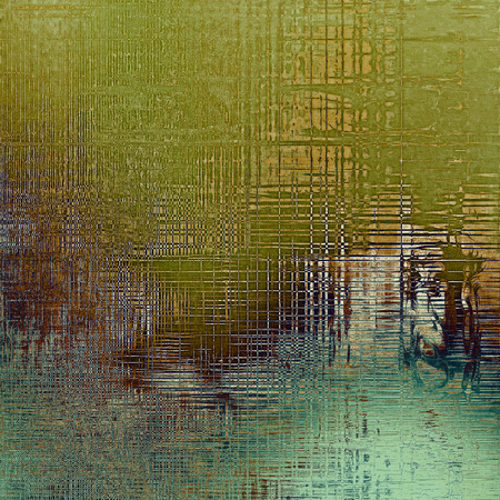 eroded: Old grunge textured background. With different color patterns: yellow (beige); brown; green; gray; blue; cyan