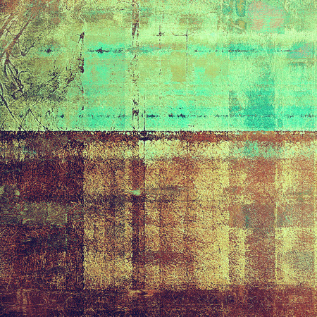 Abstract grunge background or aged texture. Old school backdrop with vintage feeling and different color patterns: yellow (beige); brown; green; blue; purple (violet); cyan