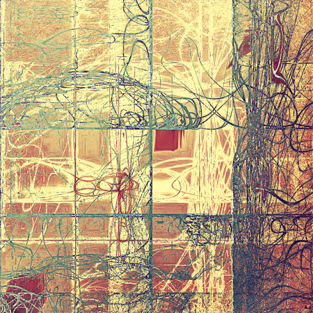 eroded: Retro background with grunge texture. With different color patterns: yellow (beige); brown; green; gray; red (orange); pink