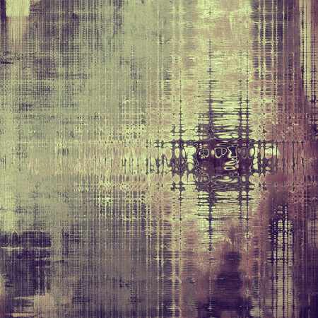 eroded: Old school elements on textured grunge background. With different color patterns: yellow (beige); brown; gray; purple (violet); pink