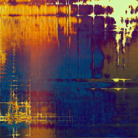 Grunge background or vintage texture in traditional retro style. With different color patterns: yellow (beige); brown; blue; gray; red (orange); purple (violet)