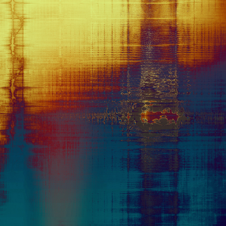 eroded: Old grunge background with delicate abstract texture and different color patterns: yellow (beige); brown; blue; red (orange); purple (violet); pink