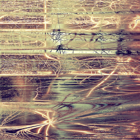 obscure: Old school background or texture with vintage style grunge elements and different color patterns: yellow (beige); brown; gray; purple (violet); pink; cyan