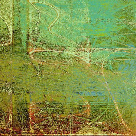 Abstract distressed grunge background. With different color patterns: yellow (beige); brown; green; blue; red (orange); cyan