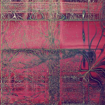 古代のビンテージ テクスチャにグランジ デザインの組成物。別の色パターンを持つ創造的な背景: 黄色 (ベージュ);灰色;パープル (紫);ピンク