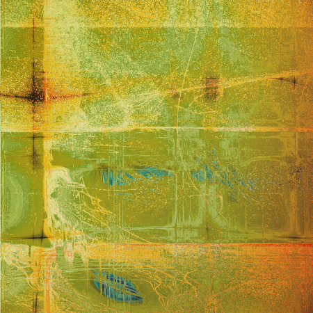 Old vintage backdrop. Original background or aged texture with different color patterns: blue; yellow (beige); brown; green; red (orange); white Reklamní fotografie