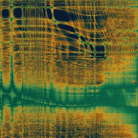 grime: Old crumpled grunge background or ancient texture. With different color patterns: blue; yellow (beige); brown; green Stock Photo