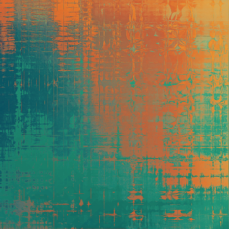 Retro background, antique texture for abstract vintage design composition. With different color patterns: blue; cyan; yellow (beige); brown; green; red (orange)