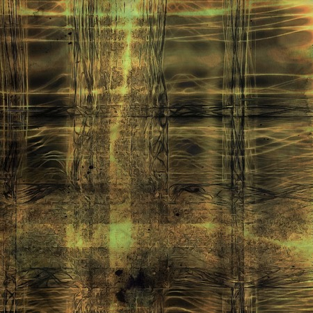 Vintage old-style texture, worn and rough grunge background with different color patterns: yellow (beige); green; brown; gray; black Stock fotó