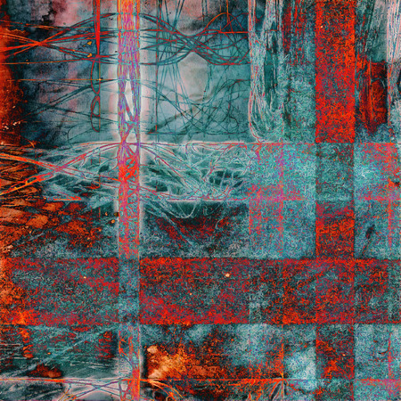 rusts: Retro texture, shabby and ragged background in grunge style. With different color patterns: gray; blue; red (orange); cyan; pink Stock Photo