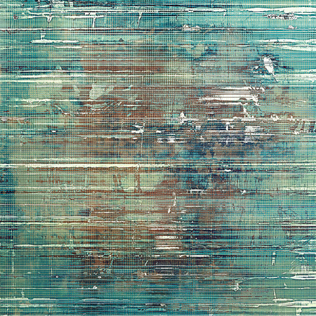 mesh: Retro style graphic composition on textured grunge background. With different color patterns: yellow (beige); brown; gray; blue; cyan; white Stock Photo