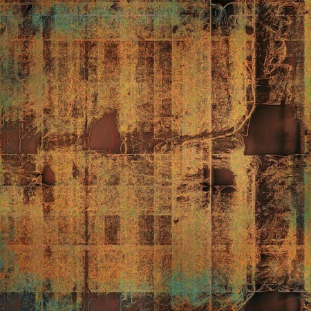 Grunge retro composition, textured vintage background. With different color patterns: yellow (beige); brown; gray; green; blue; red (orange)