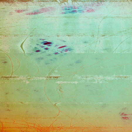 Vintage background in scrap-booking style, faded grunge texture with different color patterns: yellow (beige); green; brown; gray; blue; cyan